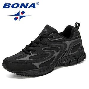 Image 2 - מעצבי BONA החדש פרה פיצול גברים ריצה נעלי Trendt ספורט נעלי גבר פופולרי סניקרס חיצוני הנעלה