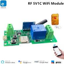 eWeLink Smart WiFi Switch 5V1C WiFi Module DIY Smart Home Alexa Compatible RF433MHz APP Remorte Control IFTTT Support