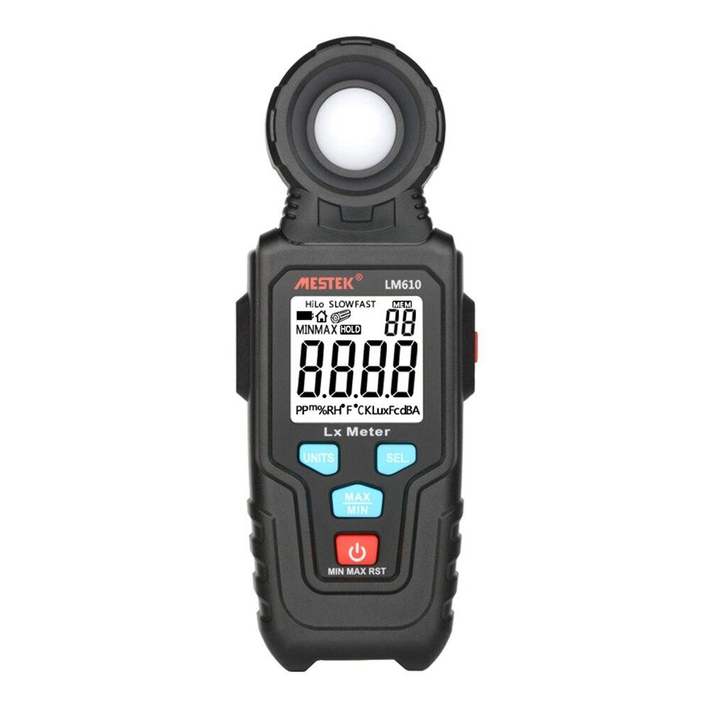 Осветительный прибор MESTEK LM610, измеритель освещенности 100000 люкс, цифровой измеритель яркости люкс Fc, тест макс. мин., осветительные приборы, ф...