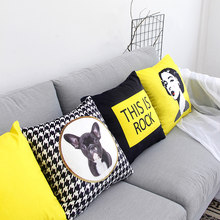 Home Decor Sofa Pillow Velvet Geometric Print Sofa Cushion Cover Pillow Case Sofa Pillow couch pillows Cushion Cover(China)