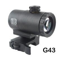 Mirino tattico G43 3x con lente d'ingrandimento con interruttore a lato STS QD Mount Fit per 20mm Rail Rifle Gun Hunting Riflescope