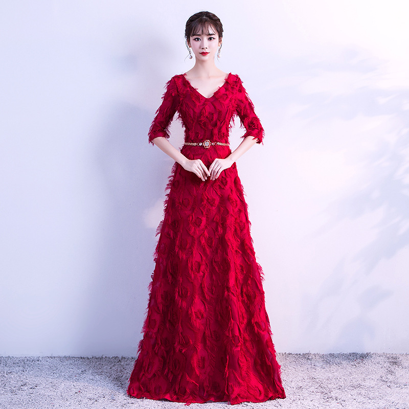 2020 Bridesmaid Dresses Long Of The New A Toast To Bride Take Long Marriage Sleeve Presided Over Wedding Dress Show Thin Woman
