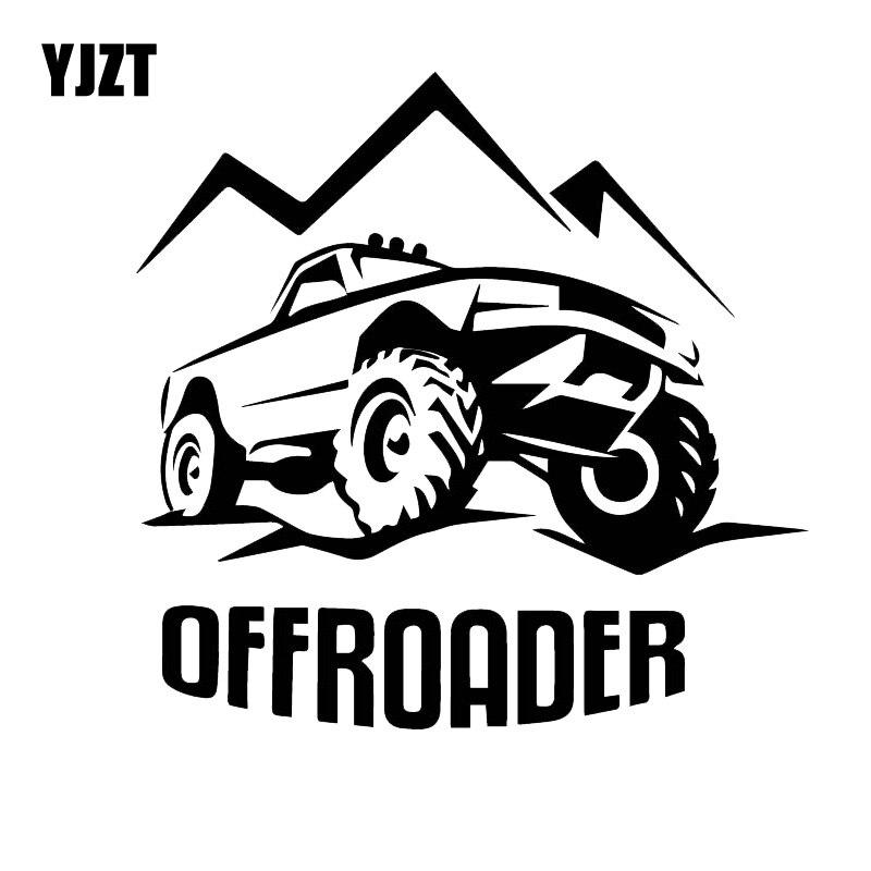 YJZT 16CM*15CM Off-road Vehicle Adventure Decorative Sticker Hot Car Decal Decoration Black/Silver C30-0428