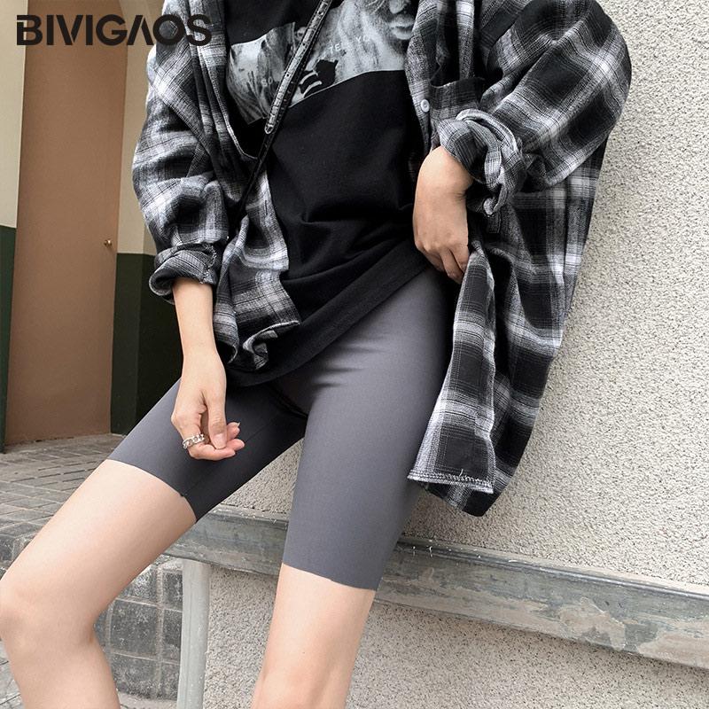 BIVIGAOS New 3-Color Sharkskin Leggings Women Spring Summer Thin Skinny Legs Fitness Leggings Pressure Elastic Sport Leggings 12