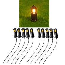 10 Uds. Luces callejeras para maquetas, tren, pastizales, paisaje, lámpara