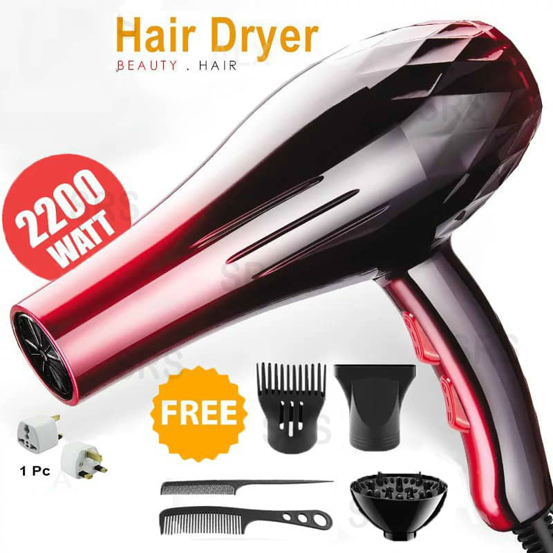 With EU Plug 2200W Hot And Cold Wind Hair Dryer Blow Dryer Hairdryer Styling Tools For Salons And Household Use