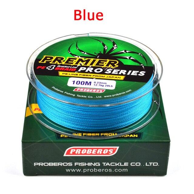 4 ipliklerini/100M Winter fishing super strong braided silk fishing line6-100LB 0.4-10.0 PE fish line lure fishing accessories 3