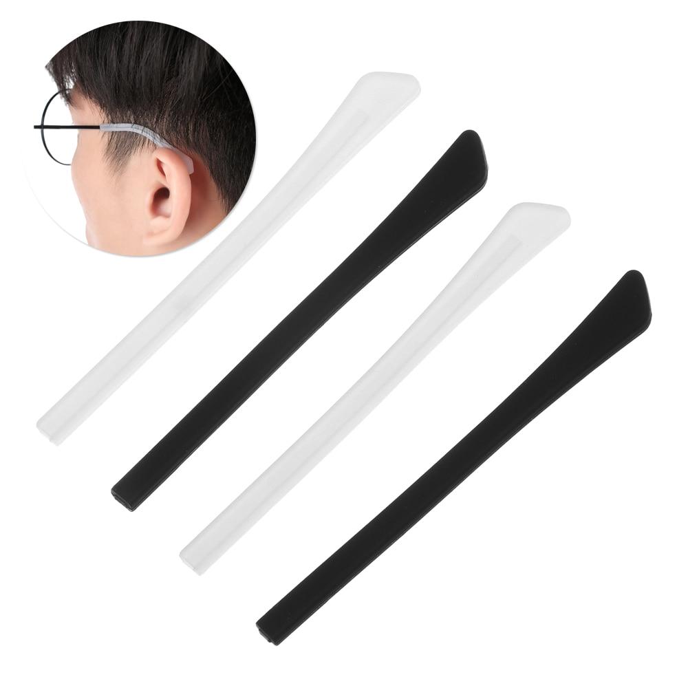 4 Pair Glasses Sunglasses Slip Sets Glasses Leg Cover Anti Slip Silicone Ear Hook Temple Tip Holder Hook Eyeglasses Accessories