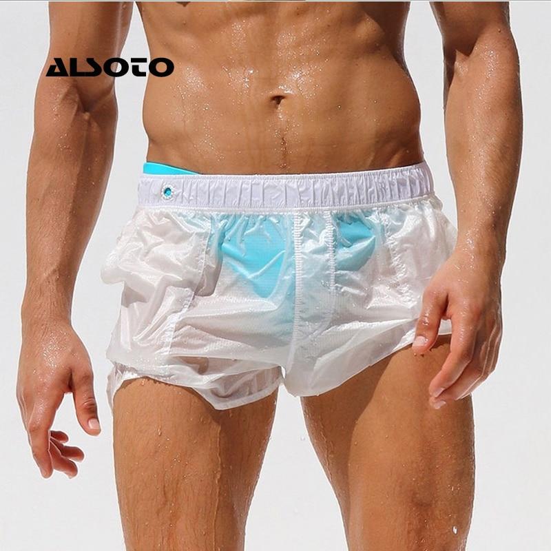 Pantalones Cortos Casuales Sexis Totalmente Transparentes De Secado Rapido Pantalones Cortos Masculinos Hombres Homme Ropa De Gimnasio Maillot De Bain Short Kompritas