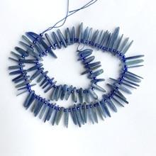 """Натуральные Синие плиты из кианита, кусочки, палочка для зубов, боковая расческа, подходит для ювелирных изделий, ожерелья, браслеты 1"""" 06122"""