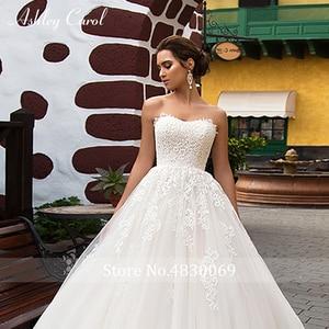 Image 5 - Ashley Carol Princess A Line Wedding Dress 2020 Romantic Appliques Short With Jacket 2 In 1 Lace Up Bridal Gown Vestido De Noiva