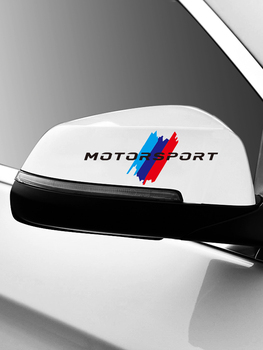 Motorsport M Power Performance car rearview mirror sticker for BMW f10 car sticker bmw e90 bmw f30 e46 x5 e70 f80 e60 X1 X5 X6 image