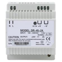 цена на laboratory power supply DR-45-24 45W Single Output 24V Din-Rail Power Supply AC/DC Switching Power Supply Din-Rail Power Supply