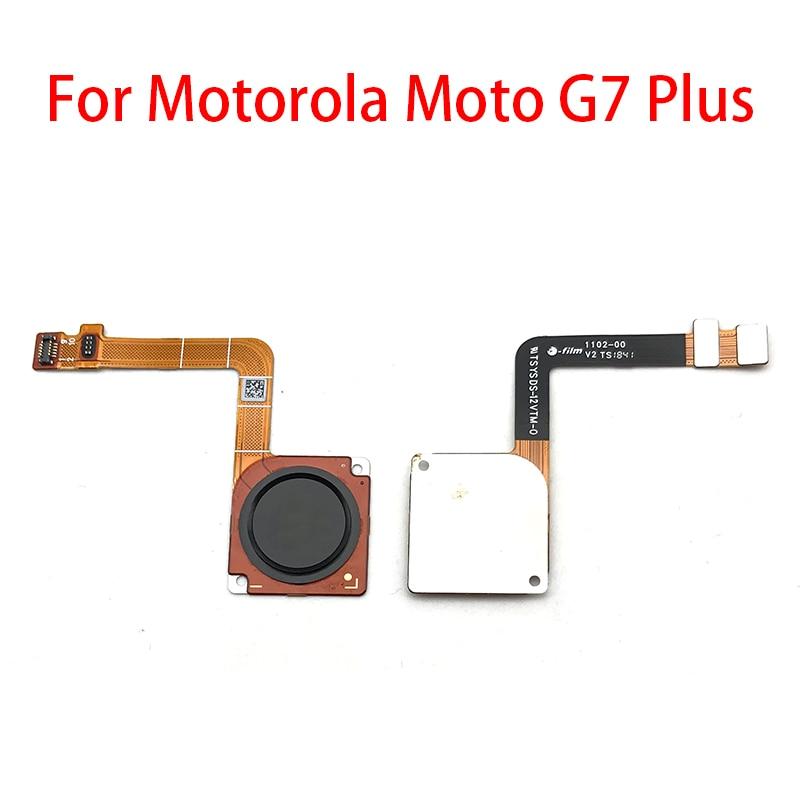 New Touch ID Fingerprint Sensor Home Return Key Menu Button Flex Cable For Motorola Moto G7 Plus Repair Parts