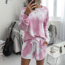 2020 Women's Pajamas Tie Dye Lounge Wear Loungewear Women Pajamas Set Tie Dye
