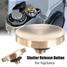 Acessórios duráveis da câmera do botão de liberação do obturador de bronze para fuji fujifilm x100f/x/t xt2 X-T10 xt20 xt30 sony rx1 nikon