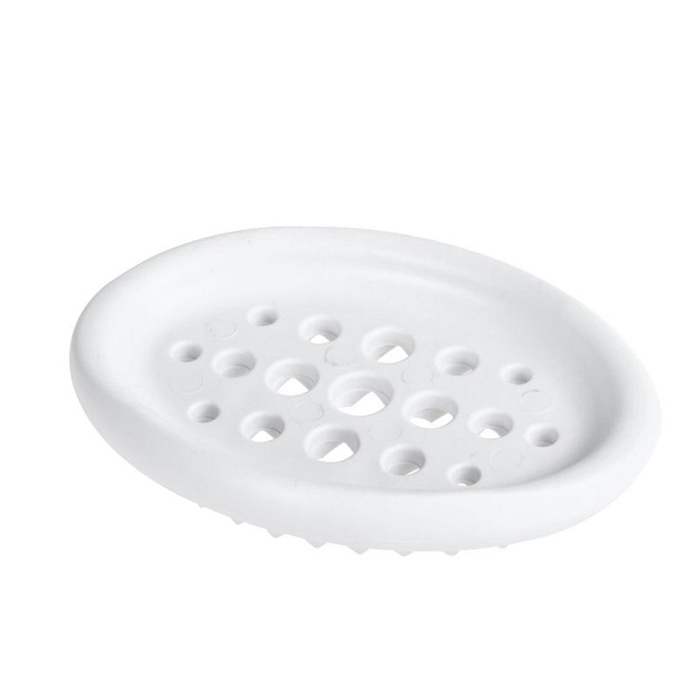 Silicone Soap Box Bathroom Drain Soap Tray Bathroom Hollow Soap Rack Soap Dish