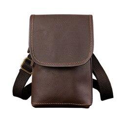 Neue taille packen kleine umhängetasche männer aus echtem leder herren schulter taschen für handy tasche gürtel taille packs für männer handtasche