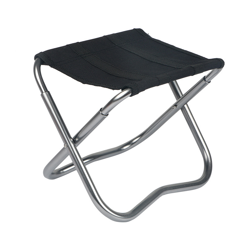 Outdoor Fishing Chair Portable Folding Lightweight Stool Oxford Cloth 6061 Al Alloy Beach 304 Rivet 100kg 220g Camping Chairs