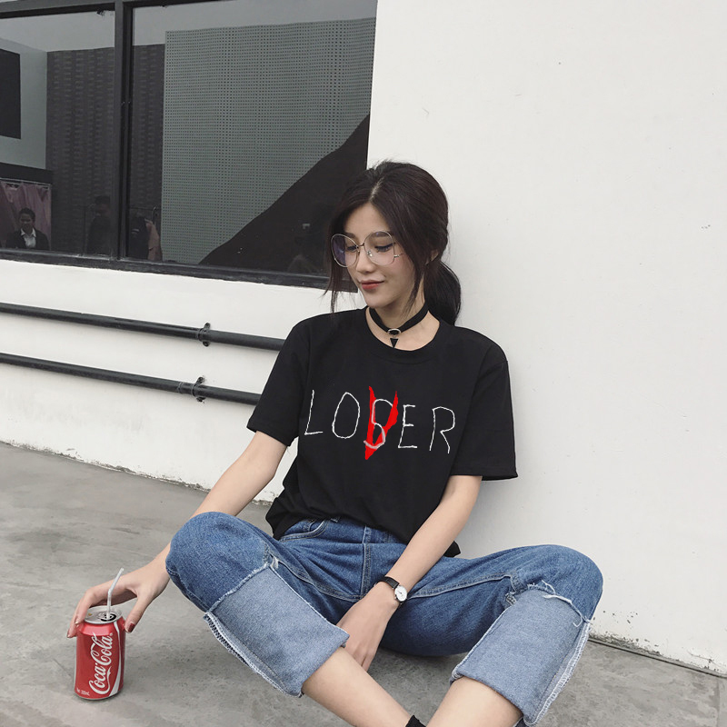 2019 ZSIIBO new Movie It Losers Club T Shirt Men Women Casual Cotton Short Sleeve Loser Lover It Inspired T-Shirt Tops