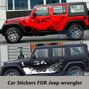 Car stickers FOR Jeep wrangler body appearance decoration modified stickers wrangler door sports off-road stickers