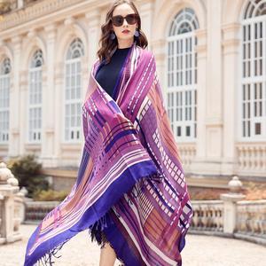 Image 4 - Wool Women Scarves Stoles Elegant Carf Warm Shawl Bandana Scarf Luxury Brand Muslim Hijab Beach Blanket Face Shield Foulard