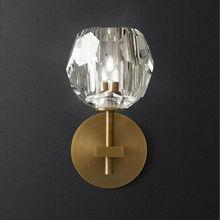 Современный дизайн, железный настенный Золотой Крытый хрустальный настенный светильник, глобус, светильник, аппликация Aplique Luz Pared Wandlamp, блеск Led