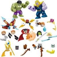 Marvel Avengers Spielzeug Mini Puppe Action Figure Thanos Iron Man Spider-man Thor Loki Super Hero Baustein Ziegel zubehör