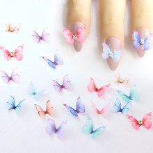 20-50PCS Chiffon Tulle Butterfly Wings Nail Arts Crafts Decorative Accessories DIY Earring Necklace Handmade Ornament Material
