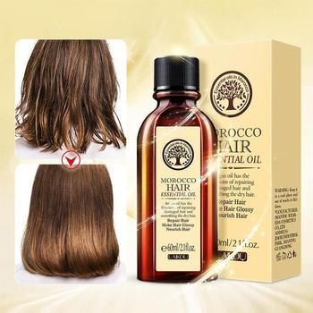 New 60ml Morocco Argan Oil Haircare Essential Oil Nourish Dry Scalp Hairdressing Treatment Glycerol Oil Repair Hair Damage M3O7 1