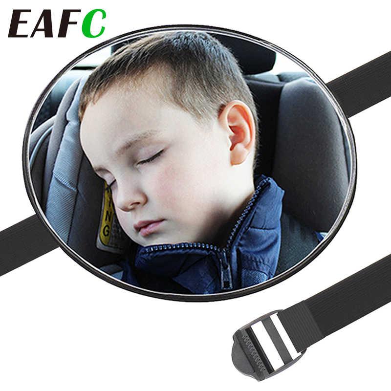 Widok bezpieczeństwa samochodu tylne lustro z widokiem na siedzenie lusterko samochodowe do obserwacji dzieci dzieci w obliczu lusterko wsteczne dbanie o dzieci kwadratowe bezpieczeństwo dzieci Monitor 17*17cm