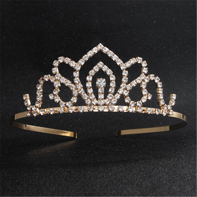 FIAZIA Gold Bride Hair Crown Ornaments Women Weeding Accessories Jewelry Charms Bridal Head Comb Children Bride Hairdress Crown