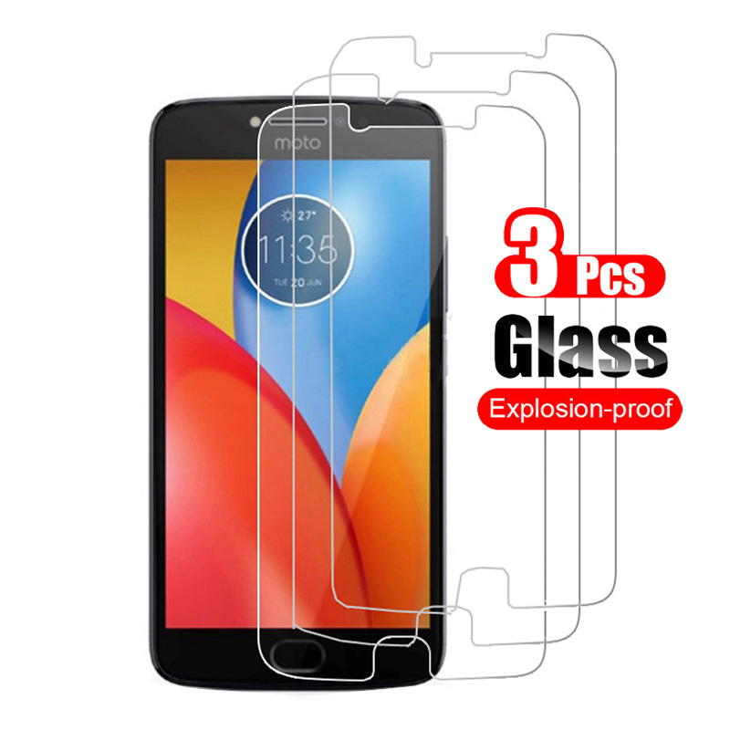 3Pcs Tempered Glass for Motorola Moto E4 E 4 Plus Screen Protector for Moto E4 Plus Protective Toughened Shield image