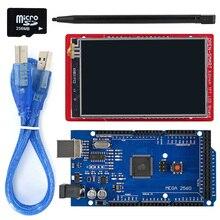 3.2 אינץ TFT LCD תצוגת מודול מגע מסך מגן ערכת המשולב טמפרטורת חיישן + מגע עט/TF כרטיס/ mega2560 עבור Arduino