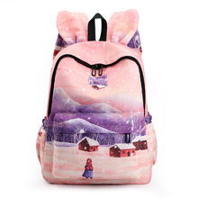 Campus Waterproof Backpack Women Student Schoolbag Nylon Mochila Escolar Sac Bolsos Para Mujer Printing Bagpack for College Bags(China)