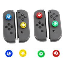 ALLOYSEED 4Pcs Silicone Analog Thumb Stick Grips Caps For Nintend Switch NS JoyCon Controller Gamepad Joysticks Cap Skin Cover(China)