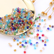 Wholesale 1000pcs Big Bag Colorful 4mm Bicone Crystal Beads Glass Beads Loose Spacer Beads bracelet Jewelry Making Accessories