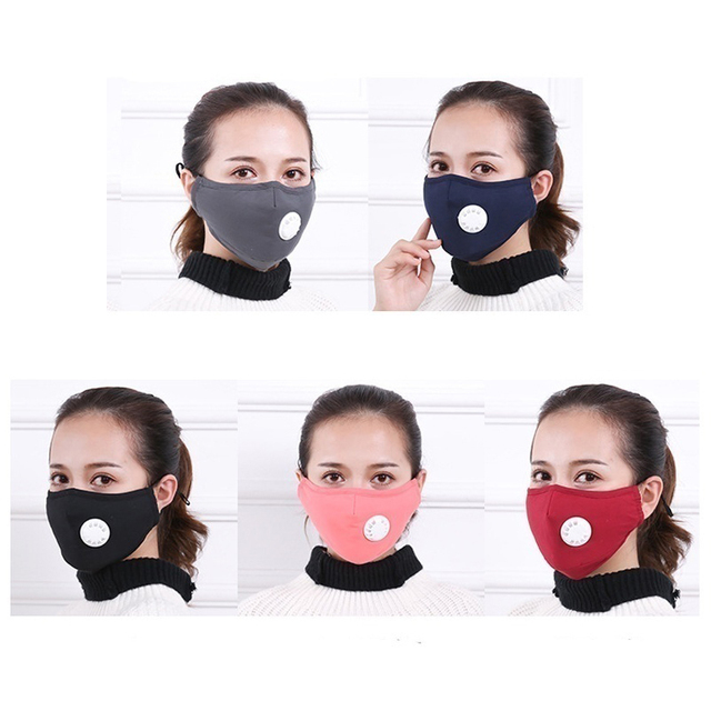 1Pcs BYEPAIN Dust Pollution Mask Dust Respirator Washable Reusable Masks Cotton Unisex Mouth Muffle for Asthma/Travel/ Cycling 2
