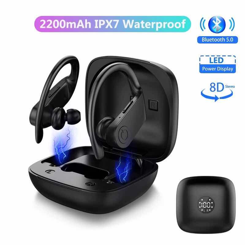 Bluetooth Earphones Wireless Headphones TWS Stereo Earbuds Handsfree Sport Headset Led Display With Mic Charging Box