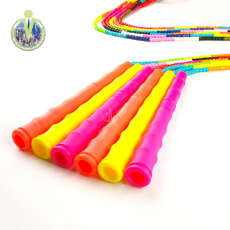Personal 2.7 M Colorful Pattern Lanyard Adult Bamboo Joint Beads Jump Rope Children Lanyard Sbl-3