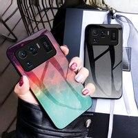 Der neue star sky gemalt glas weichen rand handy fall ist geeignet für Xiaomi 11ultra Pro Lite serie