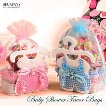 50 stücke Baby Shower Favor Taschen Baby flaschen zucker geschenk taschen candy boxen es ist ein junge es der eine mädchen gastgeschenke geburtstag zubehör