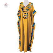 Африканские женские платья с v образным вырезом Дашики цветные