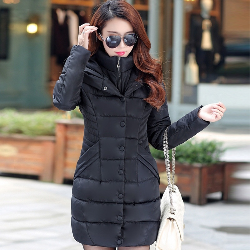 ZOGAA 2019  Women Parka Winter Down Cotton Jacket Warm Thick Hooded Coat Casual Female Winter Jacket Long Overcoat Coat Hot Sale