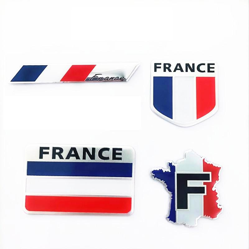 Aluminum Alloy France National Emblem French Flags Badge Car Stickers Automobiles Motorcycles Auto Tail Trunk Decor Accessories