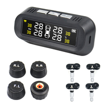 Automobiles amp Motorcycles LCD Tire Pressure Monitor Systems TPMS Tire Presssure Air Leak Alarm Tire Accessories Pressure Sensors cheap HESITE 10mm 92mm Plastic Alarm Systems Security 0 38kg 28mm C261