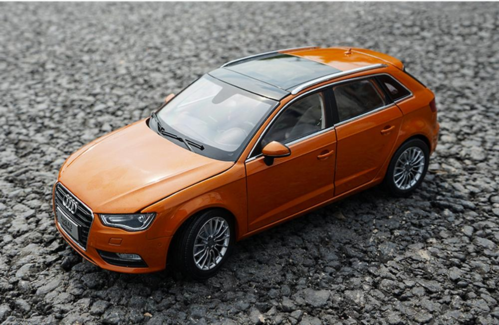 1/18 Scale <font><b>Audi</b></font> <font><b>A3</b></font> Sportback Orange DieCast <font><b>Car</b></font> Model <font><b>Toy</b></font> Collection Gift image