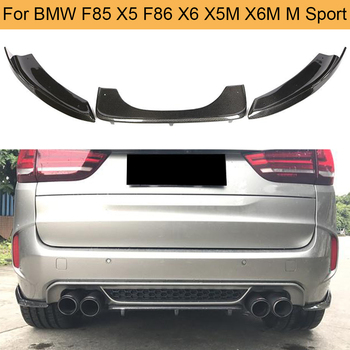 Carbon Fiber Car Rear Bumper Diffuser Lip Spoiler for BMW F85 X5 F86 X6 X5M X6M M Sport SUV 4 Door 2014 - 2018 image