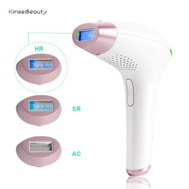 Depilador a laser ipl 500000 flashes, remoção de pelos permanente 3 em 1 para mulheres, máquina de depilação
