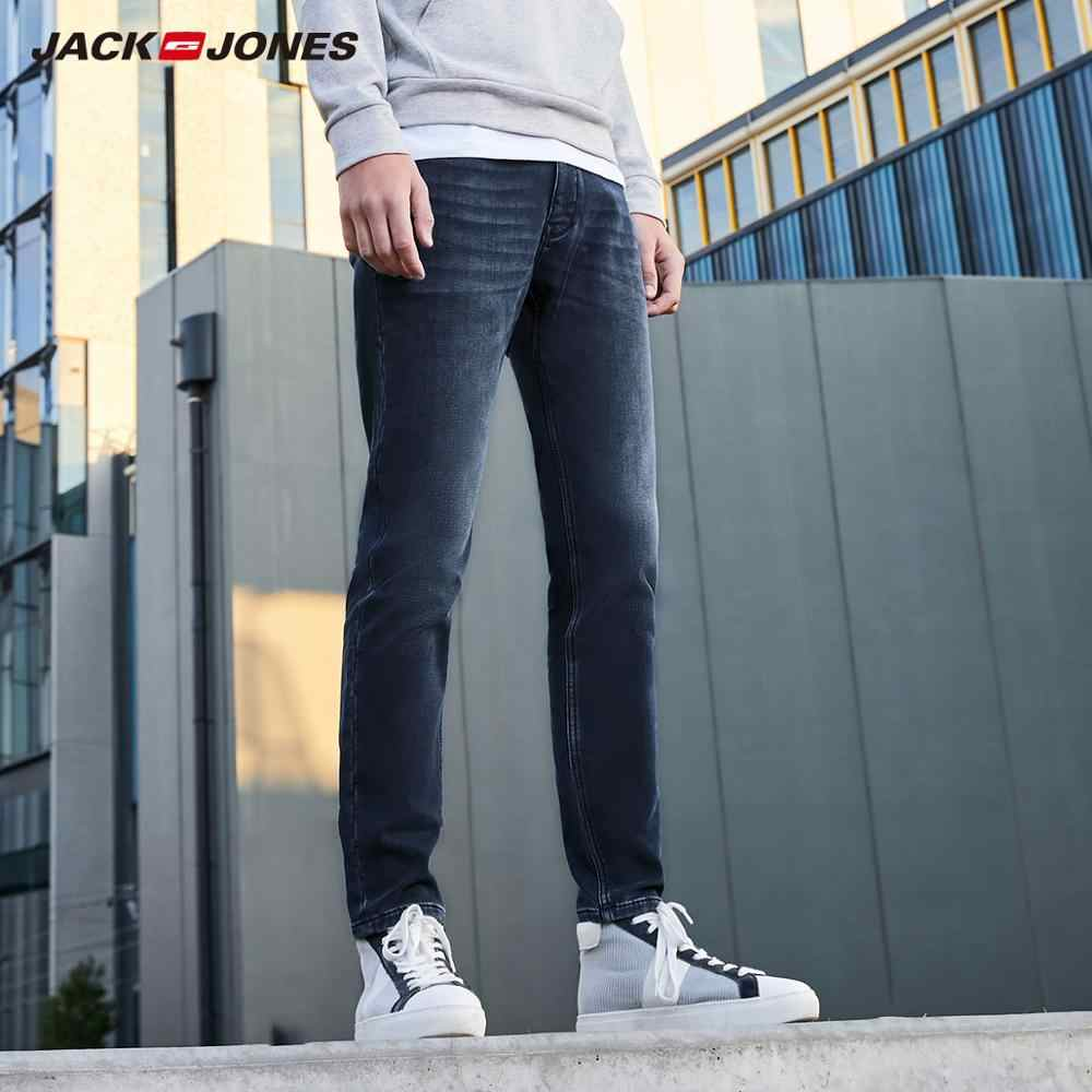 JackJones 남성 코튼 따뜻한 닦았 안감 편안한 청바지 기본 남성복 219332576